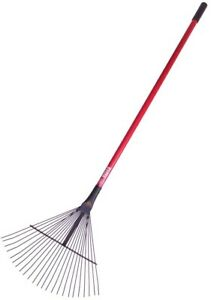 Bully Tools Leaf Thatching Rake Lawn Garden Fiberglass Handle 24 Tine Landscape