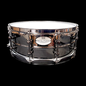 CHAOS METAL FORGE 14#x27;#x27; x 5.5#x27;#x27; BEADED BRASS SNARE DRUM LUDWIG BLACK BEAUTY MAGIC AU $499.00