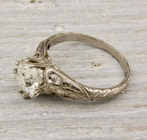 Antique 2.00Ct White Round Cut Diamond Art Deco Engagement Ring Solid 925 Silver $87.89
