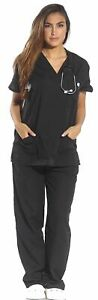 Just Love Women#x27;s Scrub Sets Six Pocket Medical Scrubs V Neck with Cargo Pant
