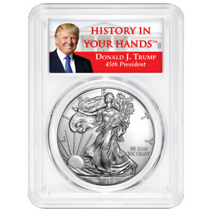 2019 $1 American Silver Eagle PCGS MS69 Trump Label