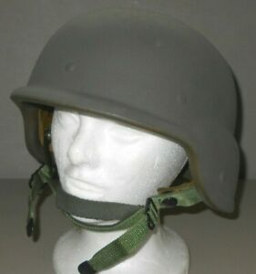 US Military PASGT Kevlar Helmet Size S-3 Sioux Mfg Corp Liner Chin Strap VGC
