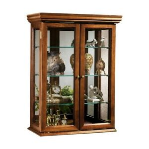 Photo Display Cabinet Curio Wall Mount Small Mini Case Hung Hanging or Tabletop