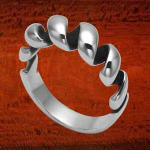 Sterling Silver Over Under Mens Ring R422 $52.95