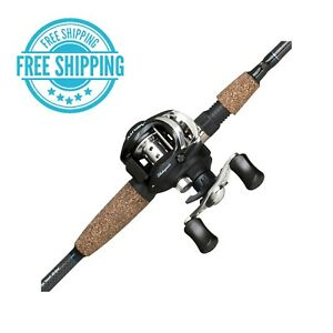 Shakespeare Agility Low Profile Baitcast Reel and Fishing Rod Combo Tech Grips