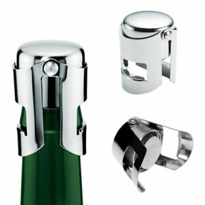 2PC Stainless Steel Champagne Stopper Sparkling Red Wine Bottle Plug Sealer Tool