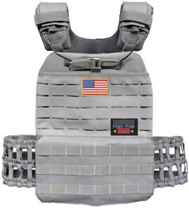 Tactical Weight Vest Plate Carrier CrossFit Rogue & 5.11 PlatesPatches Fit USA