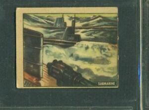 1950 TOPPS FREEDOM'S WAR # 175 SUBMARINE ARSENAL FOR DEMOCRACY VG+ O/C