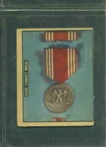 1950 TOPPS FREEDOM'S WAR # 193 GOOD CONDUCT MEDAL ARMED FORCES MEDALS VG/O/C