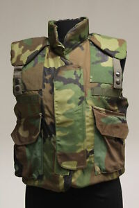 PASGT Woodland Body Armor Fragmentation Protective Vest Small