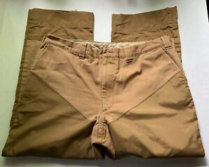 WOOLRICH KHAKI HUNTING PANTS 40x26.5 with 2.75 TO LET OUT VINTAGE