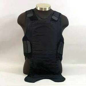 Second Chance Level II Body Armor Police Bulletproof Vest, Black, Plain Poly Car