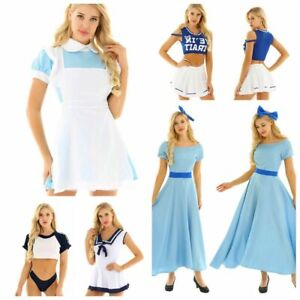 Large Sexy Women Costume Cosplay Maid Sailor Girl Lingerie Outfit Dress Up Skirt GBP 16.99