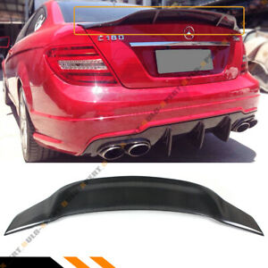 FOR 2008-14 BENZ W204 C-CLASS 4DR SEDAN CARBON FIBER DUCKBILL TRUNK SPOILER WING