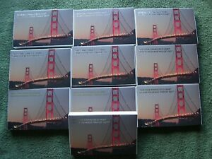 TEN (10) 2018 SAN FRANCISCO MINT SILVER REVERSE PROOF SETS WITH BOX