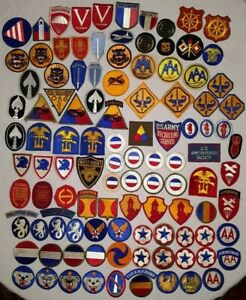 WW2 US ARMY Patch Collection Hundreds of Patches