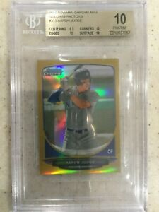 BGS 10 PRISTINE AARON JUDGE 2013 Bowman Chrome Mini GOLD REFRACTOR RC #50 POP2