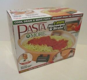 EMSON PASTA N MORE COOK DRAIN SERVE STRAIGHT FROM THE MICROWAVE SET BOXED NEW