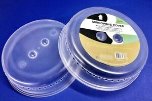 LOT OF 2 Microwave Cover Anti Sputtering Food Splatter Guard Steamer HP 0737