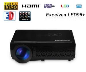 """Excelvan 96 1080P Home Theater Projector 5.8"""" LCD HD 5000 Lumens LED Projector"""