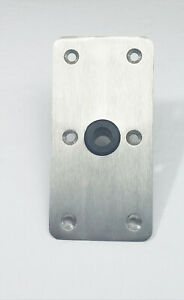 2 EACH SPRINGFIELD 4X8 STAINLESS STEEL BOAT SEAT BASE  KING PIN 34