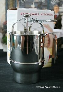 STONEWALL KITCHEN BATTER DISPENSER -NIB- POUR YOURSELF INTO A TASTY SITUATION!