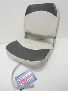 Wise New Fishing Boat Seat Chair GrayCharcoal Composite BaseBottom Fold Down