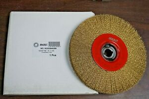 Merit 10-Inch (2) Crimped Bench Wire Wheel 1-Inch Arbor Wide Face .012
