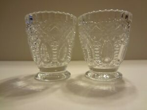 Persian Glass Votive 2 Set Candle Holder New
