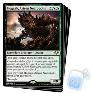 HOGAAK, ARISEN NECROPOLIS X4 Modern Horizons Magic MTG MINT CARD