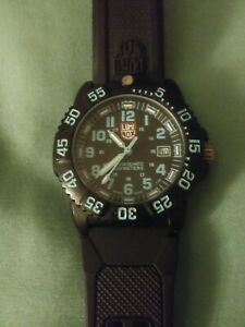 Luminox Navy SEAL Colormark 44mm Wrist Watch for Men - Black light Blue