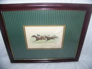 George Wright 1860 1942 Artist UK Equestrian Hand Colored lithograph Signed $75.00
