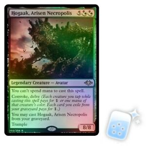 FOIL HOGAAK, ARISEN NECROPOLIS Modern Horizons Magic MTG MINT CARD