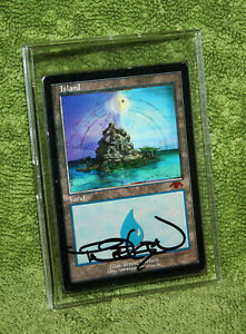 1x Guru Island Land Signed Terese Nielsen Autograph Mtg Magic The Gathering