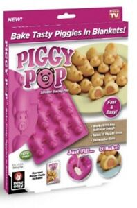 Piggy Pop Pancake Pigs in a Blanket Silicone Baking Mold Pan As Seen on TV