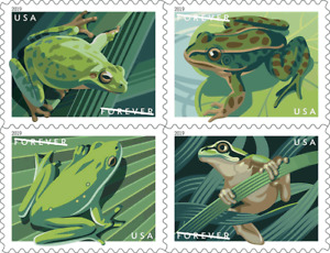 #5395-5398a 2019 Frogs Booklet block4 - MNH