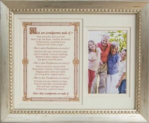 Grandparent Gift Frame What are Grandparents Made of Photo Frame 8X10 for 4X6
