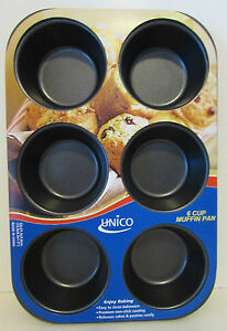 UNICO 6 CUP MUFFIN PAN  NON-STICK EASY RELEASE NIP BAKING SUPPLIES 3