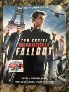 Mission Impossible Fallout  (Blu Ray + DVD + Digital) w SLIPCOVER