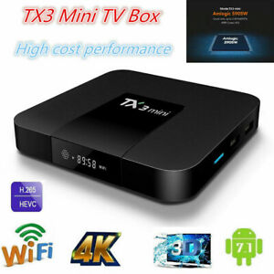 TX3 mini TV BOX Android 7.1 Quad Core Amlogic S905W WiFi 1G 8G US SHIPPING C3J6E