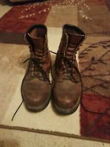 Red Wing 953 steel toe electrical hazard work safety boots 10 D