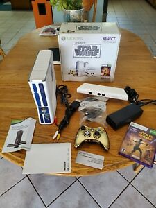 Microsoft Xbox 360 320GB Kinect Star Wars Limited Edition Console R2D2 C3P0