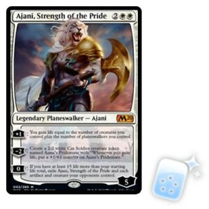 AJANI STRENGTH OF THE PRIDE Core Set 2020 M20 Planeswalker Magic MTG MINT CARD