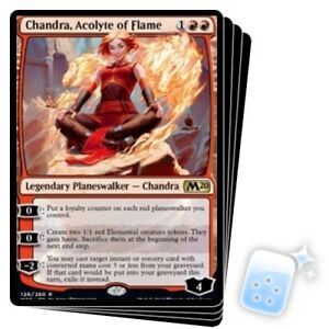 CHANDRA ACOLYTE OF FLAME X4 Core Set 2020 M20 Planeswalker Magic MTG MINT CARD