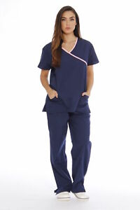 Just Love Women#x27;s Scrub Sets Medical Scrubs Mock Wrap