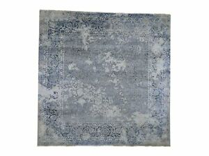 10'x10' Square Broken Design With Pure Silk HandKnotted Oriental Rug G46266