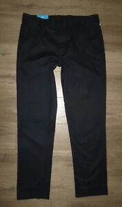 NWT Mens UNDER ARMOUR Showdown Chino Navy Blue Casual Golf Pants size 36 34 Long $49.99