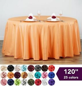 120quot; Round Polyester Tablecloth Wedding Table Linens Decoration Supplies