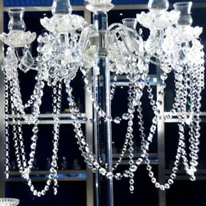 Delicate Crystal Beads Garland Chandelier Hanging Wedding Curtain Party Decor KV