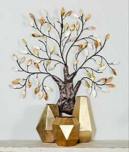Large Metal Tree Of Life Leaves Wall Art Decor Nature Scape Theme Sculpture Home $96.98